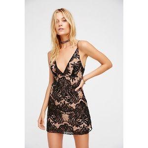🎀 Free People • Night Shimmers Mini Dress